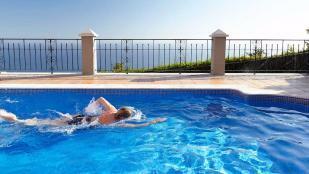 A relaxing swim