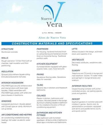 Constraction material and Specifications