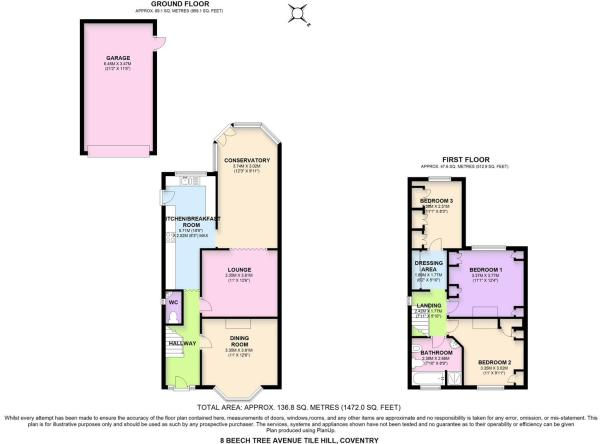 8 Beech Tree Avenue Tile Hill Coventry Floor Plans