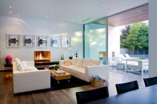 Living Room with Gas