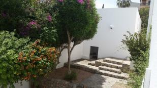 caseta perro y jardí