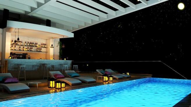 Roof top bar & pool