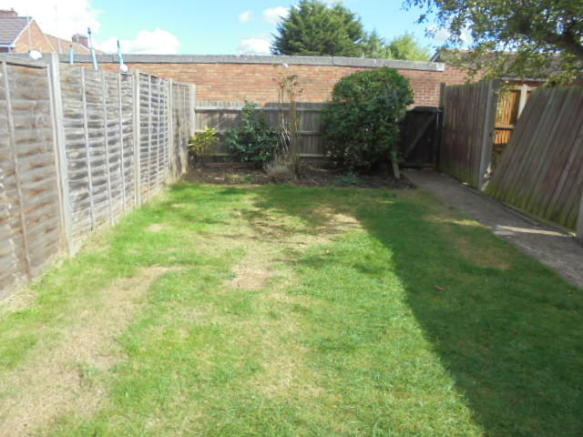 Garden laid to lawn