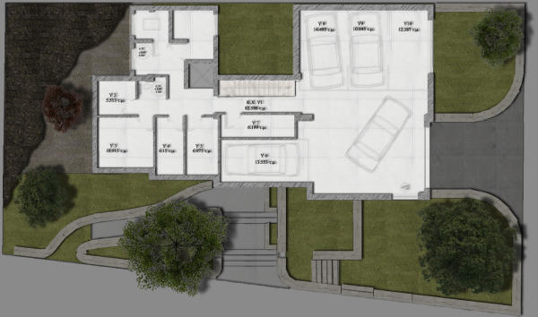 Floorplan of garage