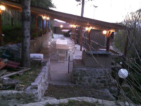Terrace in the night