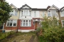 Terraced house in Chestnut Avenue...
