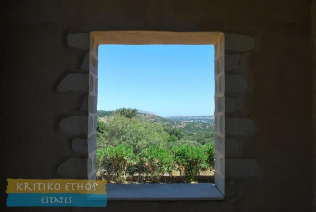 Stone picture window