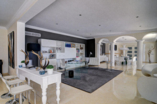 Living area with din