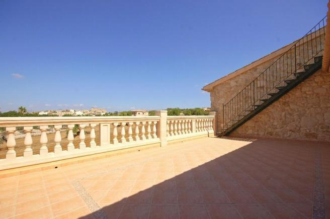 Private terrace from