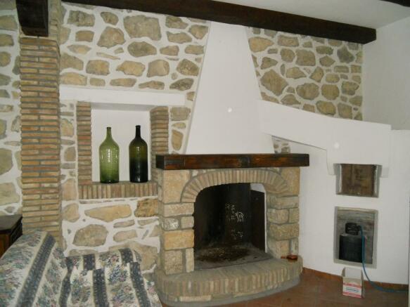 Fireplace attic room