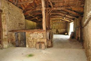 Inside of the barn