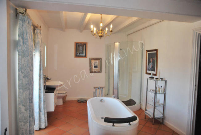 The ensuite bathroom and dressing