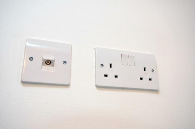 Tv wall socket