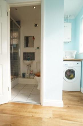 Utility Room Through To Shower Room