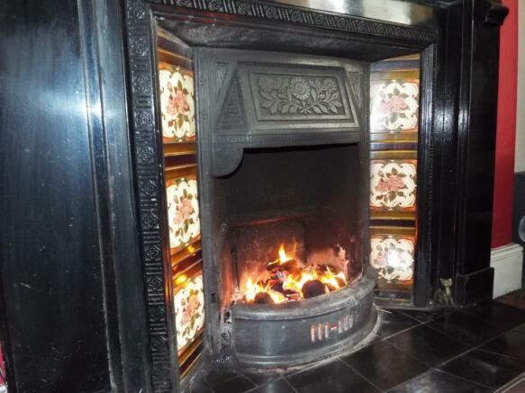 Snug fireplace