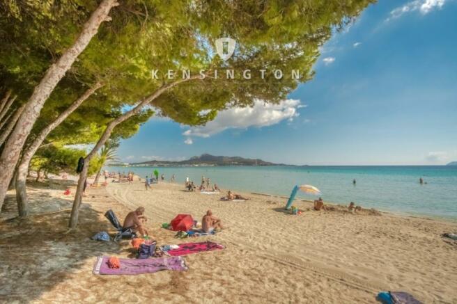 Beach at villa