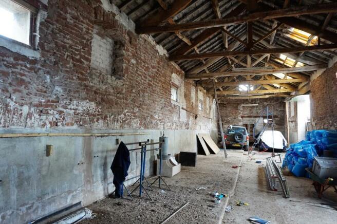 Inside one of the Sandstone Barns.JPG