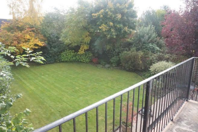 Rear view of garden from balcony