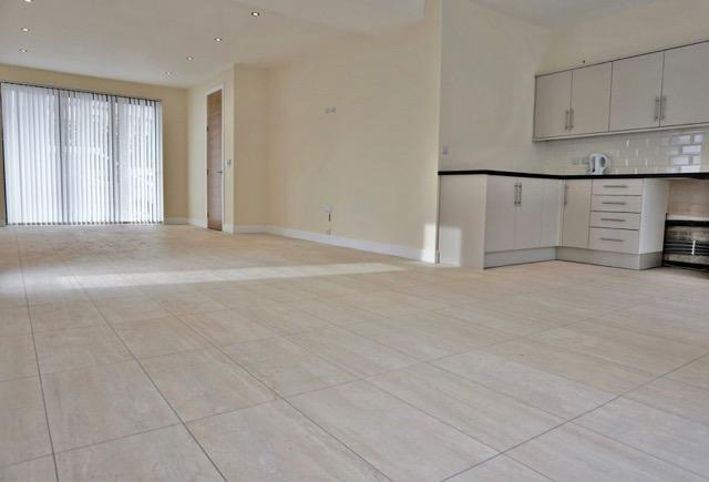 Ground floor open plan business and kitchen space