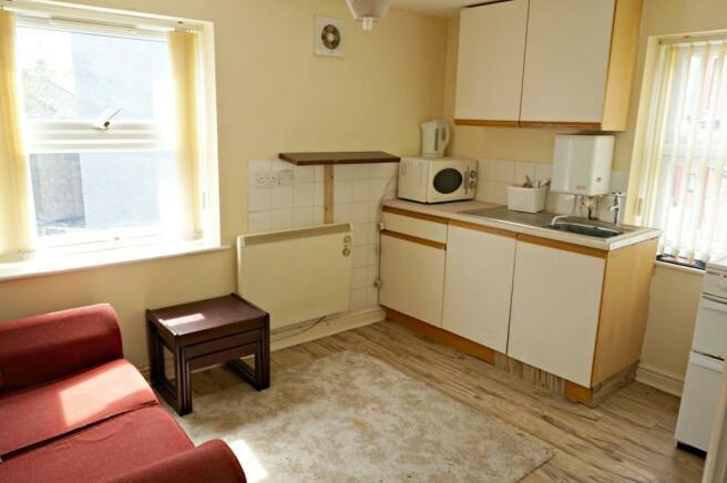 Typical Studio Kitchen/Living Room