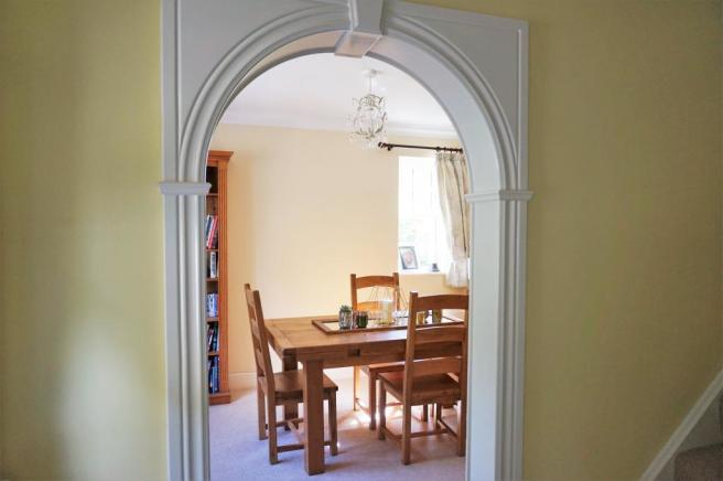 Hallway through to Dining Room
