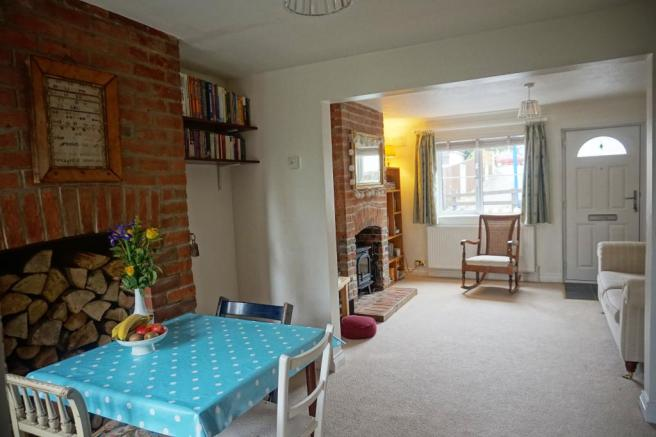 Dining room through to Sitting room