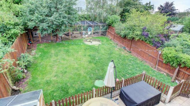 Rear Garden Elevated View