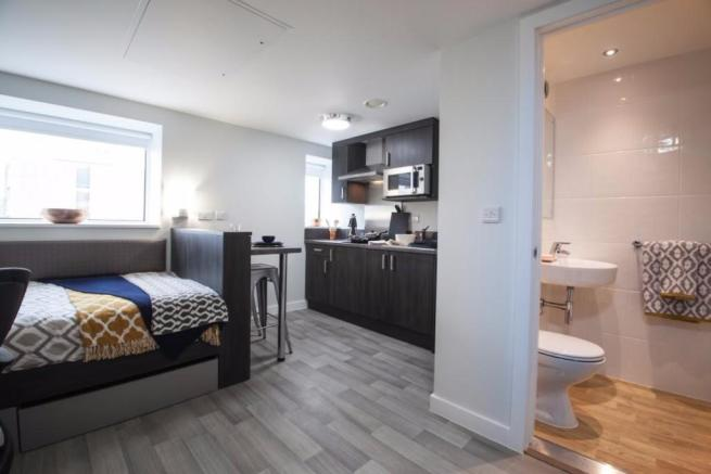studio flat to rent in collegiate fusion tower rupert. Black Bedroom Furniture Sets. Home Design Ideas