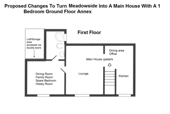 First Floor - Main House With 1 Bed Ground Floor A