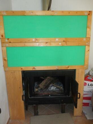 Living area fireplac
