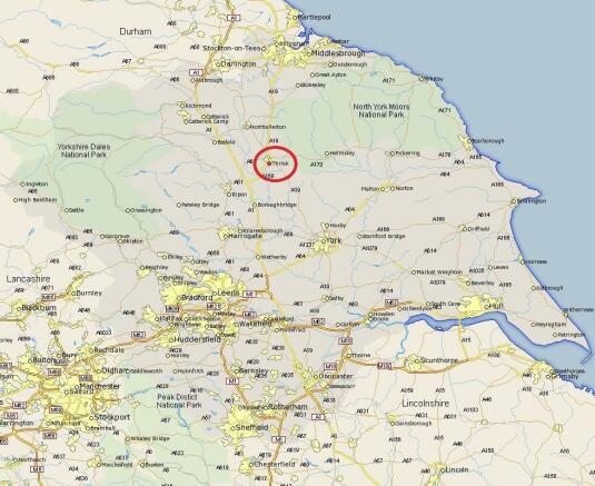 Thirsk location map
