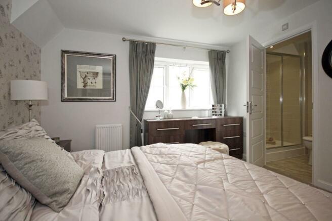 Typical Guisborough master bedroom with modern en suite