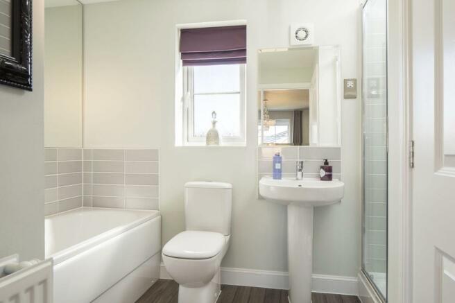 Typical Warwick en suite to master bedroom