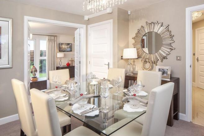 Typical Oakhampton separate dining room