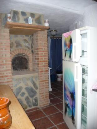 Kitchen with bread/pizza oven