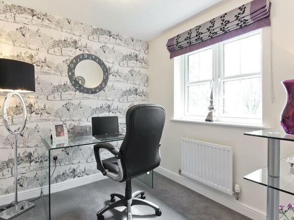 Superb study room on the ground floor