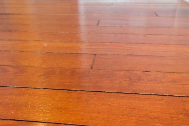 Wood floors upstairs