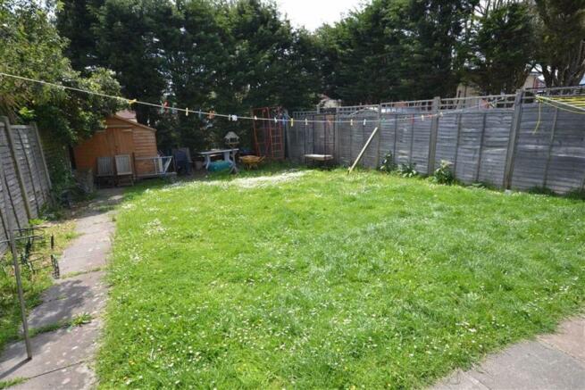 Two rear gardens