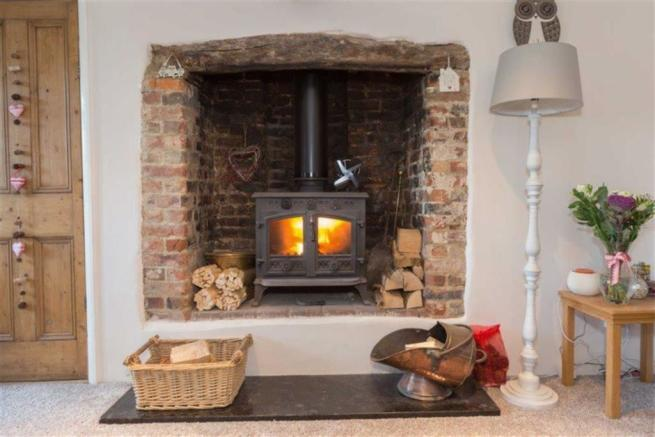 Feature fireplace with Wood burning Stove
