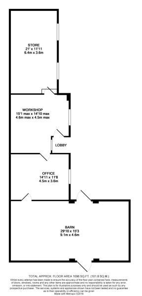Floorplan of barn...