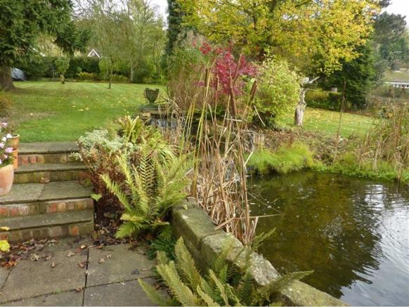 Rear Garden Pond And Waterfalls