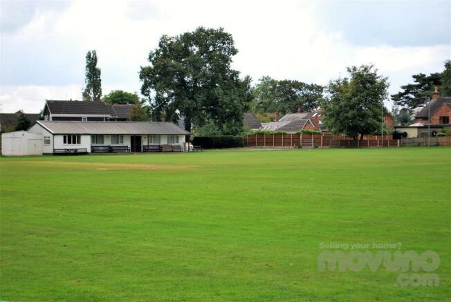 Rear View of Village Cricket Ground