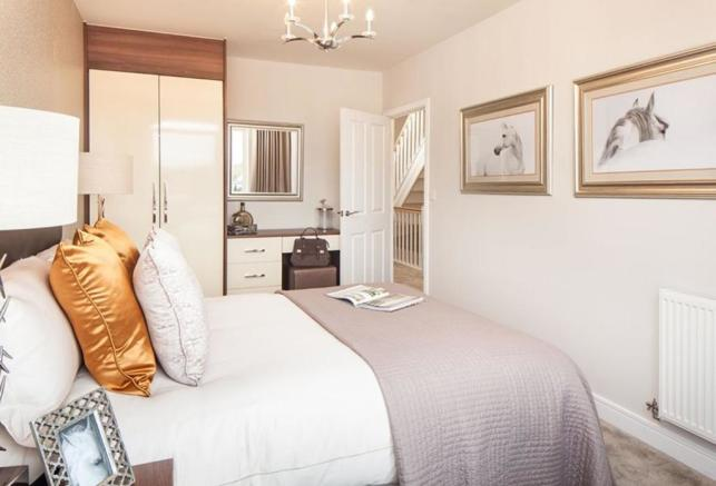 Oakwell Grange Show Home Bedroom