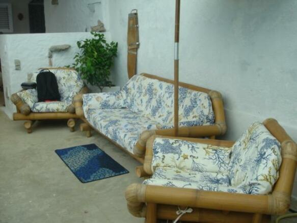 External sofa area