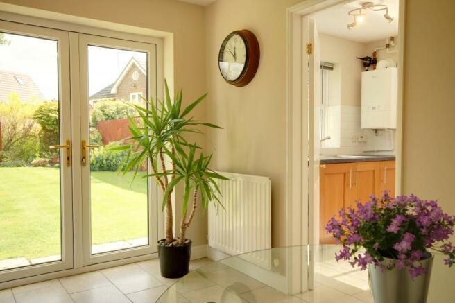 View of rear garden form kitchen/diner