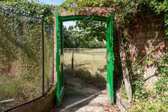 Gate into field