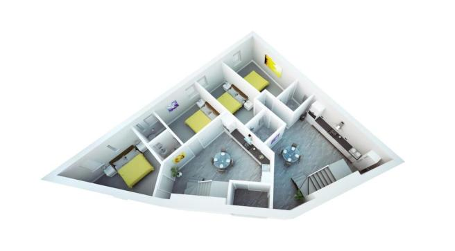 3D Floorplan Ground.