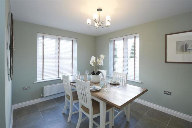 Image depicts a typical Taylor Wimpey dining area