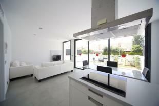 modern kitchen and l