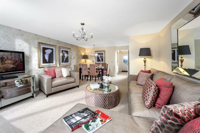 Modern lounge/dining area